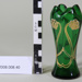 Art Nouveau green glass vase; Unknown maker; Unknown; CR2008.008.40