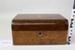 Wooden walnut box; Unknown maker; Unknown; CR2015.009.11