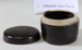 Chinese dark brown glazed pot with lid; Unknown maker; Unknown; CR2020.042.5