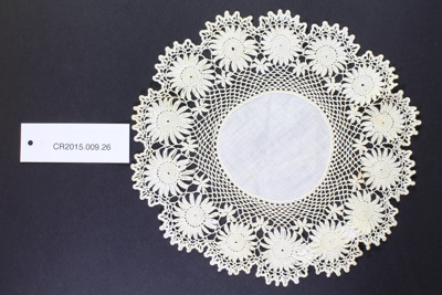 Doily; Unknown maker; Unknown; CR2015.009.26