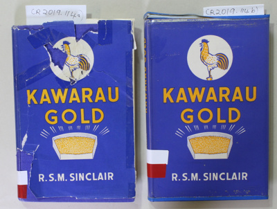 Book, KAWARAU GOLD  (2 copies); R.S.M. Sinclair; 1962; CR2019.114