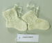 Knitted baby booties, pair; Smith, Phyllis; 1960's; CR2015.008.2