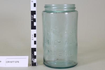 Jar; Atlas Glass Company; Unknown; CR1977.076