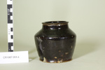 Chinese glazed vegetable container with lid or small dish (unglazed); Unknown maker; Unknown; CR1987.004