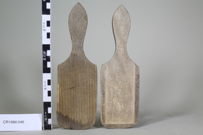 Wooden butter pats (2); Unknown maker; Unknown; CR1986.046