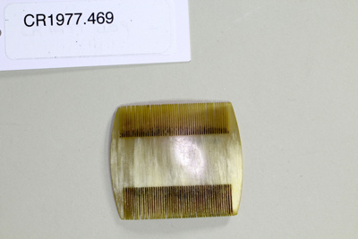 Hair comb; Unknown maker; Unknown; CR1977.469