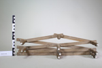 wooden 10 peg accordion hanging rack; Unknown maker; CR1977.335