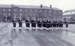 photograph of Hawke Division 98 and 99 Classes Guard marching past on parade ground in 1955; photographer : unknown; SHHMG:A616