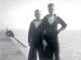 photograph of Bob Avery and Gordon Inwood taken on the foreshore at HMS Ganges in 1947.; photographer : unknown; SHHMG:A312