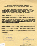 Certificate of Disharge from Naval Service for David Rye C/SSX864681 dated 13 June 1958; 13.6.1958; SHHMG:A405