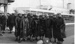 Photograph of a group of HMS Ganges boys awaiting visit of Princess Margaret; photographer : Fisk, R A, Mr; SHHMG:A10566