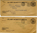 Two envelopes sent to T. Abrams that held documents about him joining the Royal Navy; 1963; SHHMG:A2338.3