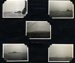 A montage of five photographs of ships of the United Nations fleet during the blockade of Wansan in the 1950s; photographer; SHHMG:A4609