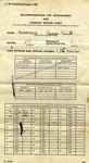 Recommendations for Advancement and Conduct Record sheet for George Smith Adamson, P/SSX839541, front page only shown.; SHHMG:A410