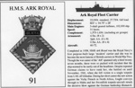 Information card for HMS Ark Royal; SHHMG:A409