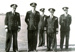 Copy of a photograph of Commander in Chief Nore, 1952 with Captain Whitfeld of HMS Ganges, and other officers.; photographer : unknown; SHHMG:A5117