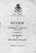 Programme of the review by Vice-Admiral W. W. Anstice, C.B. (fifth Sea Lord) in honour of the birthday of Her Majesty The Queen on Thursday 5th June 1952.; 5.6.1952; SHHMG:A470