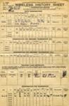 Wireless History Sheet for David John Patrick Fitzferald Rye, C/SSX 864681,; SHHMG:A402