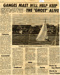 A news cutting from April 2nd 1976 Standard about the closure of HMS Ganges, with a photograph of the Establishment taken from the river.; SHHMG:A2457