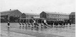 Photograph of Bugle Band on parade ground; photographer : Fisk, R A, Mr; SHHMG:A572