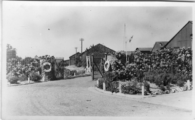 Entrance gate to Annexe at HMS Ganges; SHHMG:A522