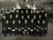 Photograph of a group of ratings probably from Supply and Secretariat branch with a Petty Officer Johns, P17558.; SHHMG:A1564