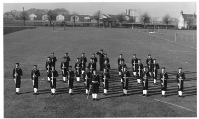 Photograph of 106 and 107 Classes Grenville Division Guard at Present Arms position.; photographer : unknown; SHHMG:A575
