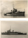 2 photographs of the minesweeper HMS Jaseur, M428, at anchor; photographer; SHHMG:A4603