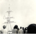 Photograph of spectators at the mast manning in 1965; SHHMG:A951