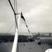 Photograph of the white ensign flying from the gaff of the mast in 1965; SHHMG:A952