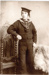 Copy photograph of Edward Webster, HMS Calodonia 1902. He served at HMS Ganges 1906; photographer : unknown; SHHMG:A10175.1