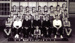 Photograph of HMS full boxing team, 1957 with trophies; photographer : Fisk, R A, Mr; SHHMG:A6908