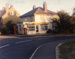 """Photograph from """"As The Sun Goes Down"""" of the local post office and shop at the junction of Caledonian Road and top of Bristol Hill.; photographer : Thompson, Barrie V.J.; SHHMG:A1356.27"""