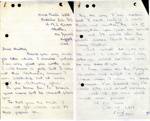 Copies of correspondence to Heather Cockrill from Mick Parish and Bill Coventry while they were juniors at HMS Ganges from 1959 to 1961.; Coventry, Bill; Parish, Mick; 1959 = 1961; SHHMG:A4248