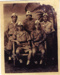 A  copy of a photograph of five Japanese soldiers,  probably taken at the time of the surrender of the Japanese in Singapore . George Albert Tuck was there serving on HMS Sussex, he was a Hostilities Only rating at HMS Ganges in 1944.; SHHMG:A9540