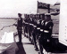 Copy photograph of members of crew of HMS Alert forming guard at Macau, China in 1953 = 1954.; SHHMG:A6393.42