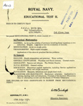 Educational Test certificate for David Rye C/JX864681 dated 18th July 1950; SHHMG:A403