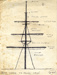 Pen and ink diagram of the mast in 1965; SHHMG:A959