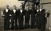 Photograph of a group of signalmen including Leading Signalman Thomas Victor Stammers, on board ship; location unknown.; photographer : unknown; SHHMG:A3008