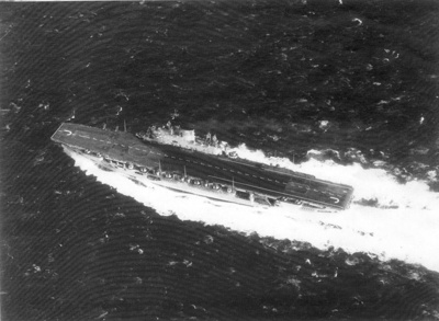 Photograph of HMS Eagle at sea; photographer : unknown; SHHMG:A397