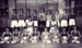 Photograph of gymnasium display team 1957; photographer : Fisk, R A, Mr; SHHMG:A6906