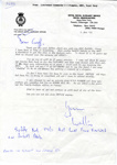 """A letter from """"Walter"""" Pidgeon to Geoff Nunn.; 5.11.1993; SHHMG:A684"""