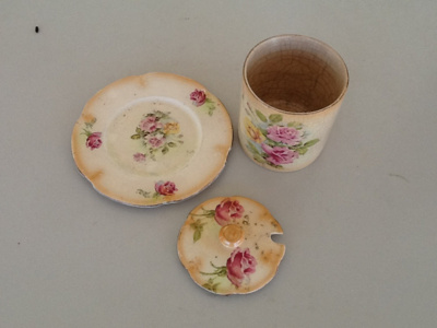 Jam jar and plate ; c 1920; SH68-746
