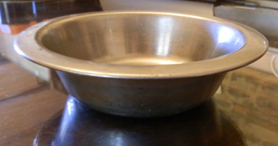 Tin Bowl; Unknown; c 1950; M16.1