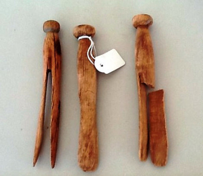 Wooden Pegs x 3; c 1880; M1705
