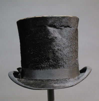 Edmund Blacket's Top Hat; G H Smith & Sons; c 1860; E2015.4
