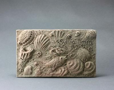 Terracotta tile with sea theme; Sylvia Timm; 1993; DCR-2016-121