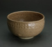 Wheel thrown bowl with pressed rim decoration; Brickell, Barry 1935-2016; 1978-79; DCR-2018-120