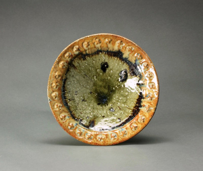 Bowl with decorated flanged rim; Barry Brickell 1935-2016; 2009; DCR-2017-057