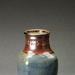 Vase with paddled sides (into four sides) and decorated stamped collar; Barry Brickell 1935-2016; Unknown date; DCR-2017-75